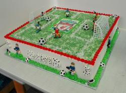 Liverpool themed birthday cake