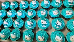 Turquoise Hello Kitty Cupcakes