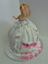 Barbie Doll Cake from back