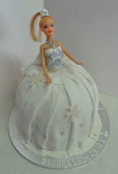 Barbie Doll Cake from front