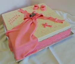 Girls 40x40 baptism cake