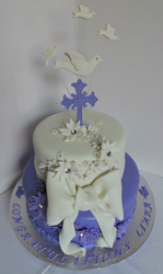 Girls Two Tier Confirmation Cake