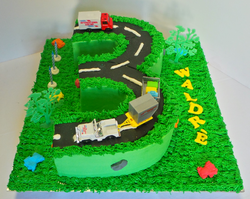 Number 3 Car/Truck Cake