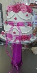 Romantik pink roses Wedding cake