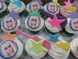 Barbie themed cupcakes