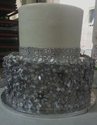 3 tier  glitteratti wedding cake