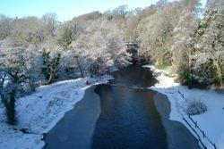 From New Brig O' Doon, Ayr, Jan 5th 2010 Looking downstream byReg Tait