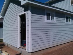Exterior painted