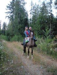 Margo & Del on Luke, Thursday before the ride