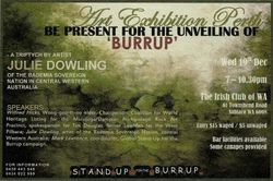 "Unveiling of Julie Dowlings triptych ""Burrup"""