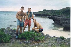 "Jeff Shields, me and ""Diamond"" Dave Huntley"