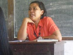 mam montes ... during class in english
