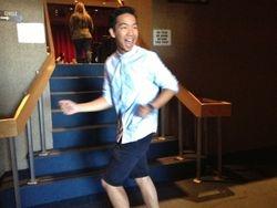 A dancing Andrew Tran.
