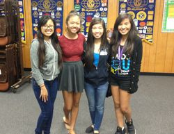 We had 7 Key Clubbers come! Only four pictured.