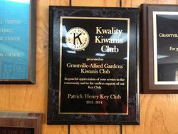 They hung up the plaque we awarded them over summer!I