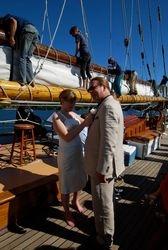 On Board the Zodiac schooner!