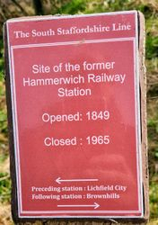 Remains of the Plaque South Staffs Rail Installed