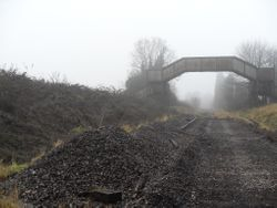 View looking towards Hammerwich Station