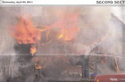 Structure Fire on April 20th, 2011