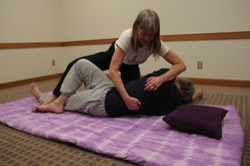 Advanced Spinal Twist w/ Back Sen Lines