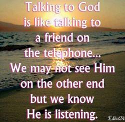 Communicating to GOD