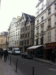 The oldest building in Paris, located in the Marais
