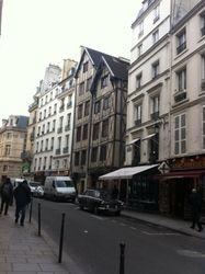 The oldest building in Paris, located in the Marais