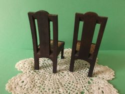 Pair of dining chairs by Elgin