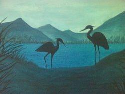 Resting Cranes