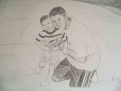 Father and son portrait.