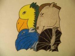 Horse, birds, and bat tessellation idea