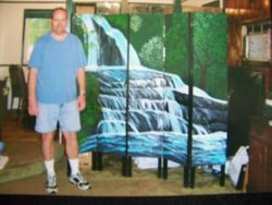 Waterfall partition.