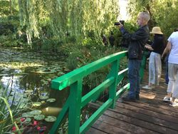 Jan visits Monet's garden