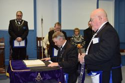 Bro Brian Speck PM installed as Senior Warden