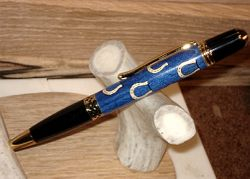 Blue Horseshoe Pen II