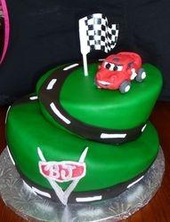 Topsy Turvy Cars Cake