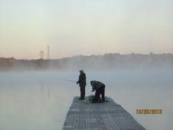 Fishermen on the docks