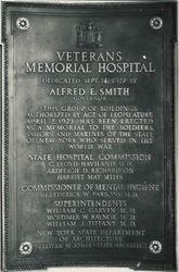 Veterans' Memorial Hospital Plaque