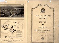 Veterans' Memorial Hospital Ceremony