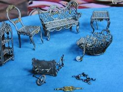 Antique silver furniture
