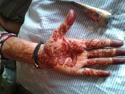 Heena Stain After Scrapping Off