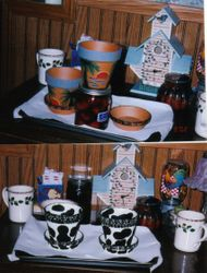 Pottery painted by BW