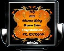 July 2012  PR_ROCKGOD 3rd Place Awards