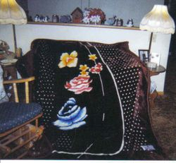 Furry Throw from Son in Iraq 2004