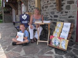 Book Signing in Haliburton - Aug. 2011