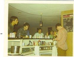 Joe Sanders-tending bar