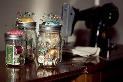mason jar pin cushions from martha stewarts sewing + craft encyclopedia