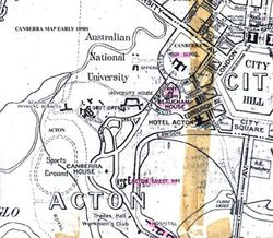 Map of Acton area