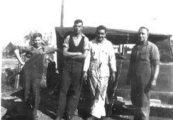 Leonard Austin far right with Martin boys at Cobbora 1930s