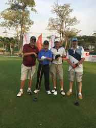 Golfing at Thana City CC.